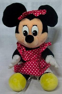 "VINTAGE DISNEYLAND/ Walt Disney World MINNIE MOUSE 14"" Plush STUFFED ANIMAL TOY"