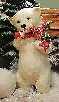 Christmas Decorations - Standing Polar Bear Figurine - Free Shipping*