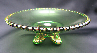 EAPG Pattern Glass Colorado Lacy Medallion Child Butter Base/ Call Card Dish