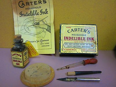 ANTIQUE  Carter's Household Indelible Ink in original boxed  set             15c