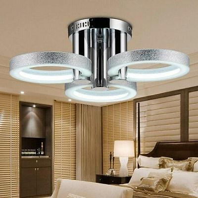 CAh Contemporary Luxury Chandelier LED Silver 3-lights Ceiling Light Flush Mount