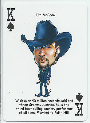 Tim McGraw - Country Music Singer - ODDBALL Playing card