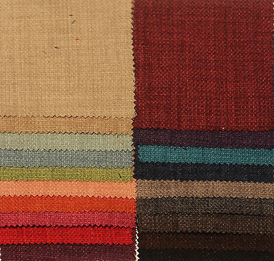 PLAIN SOFT LINEN LOOK | Sample Piece | CURTAIN SOFA UPHOLSTERY FABRIC MATERIAL
