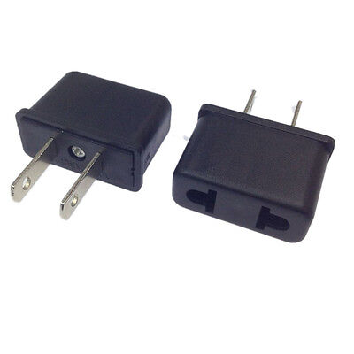 2PCS Euro EU to US USA Universal Travel Power Outlet Plug Converter Adapter