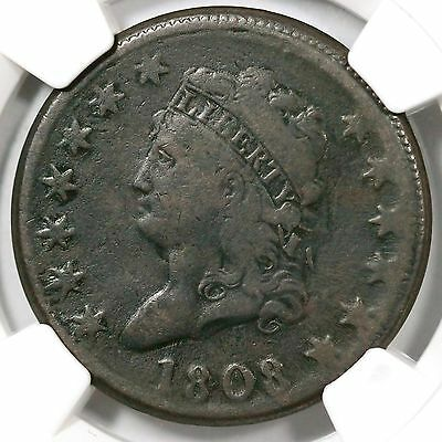 1808 S-279 NGC VF Details Classic Head Large Cent Coin 1c Ex; Eric P. Newman