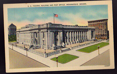 INDIANAPOLIS IN Federal Building Post Office Postcard PC
