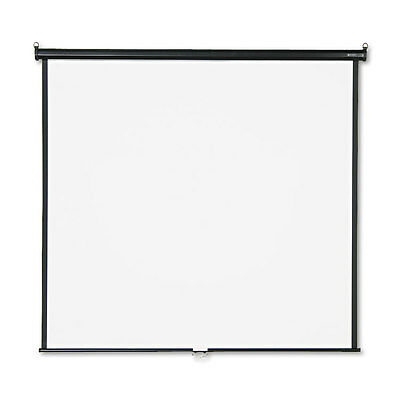 Wall or Ceiling Projection Screen, 70 x 70, White Matte, Black Matte Casing