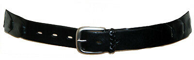 "Black Genuine Leather Women's Belt Suitable For Jeans - Marked Size ""32"