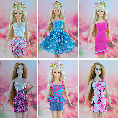 16 piece / lot new arrvial fashion  Dress Clothes Gown For Barbie doll