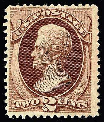US Stamp SC # 157 Mint OG NH 1873 2c Jackson Continental Bank Note Issue