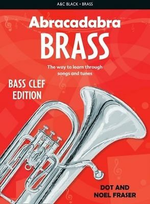 Abracadabra Brass Instruments Bass Clef Edition Sheet Music Book Learn To Play