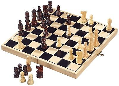 Folding wooden Chess High Quality Chess Set Folding 32cm X 32cm UK SELLER