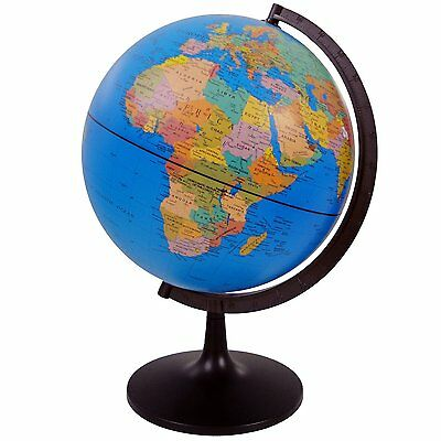 20 CM GLOBE WORLD MAP ATLAS REVOLVING WITH STAND EDUCATIONAL UK  seller