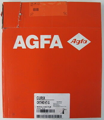 NEW 100-Pack AGFA CURIX Ortho HT-G Medical X-Ray Film 07/2016 HT & RP Processing