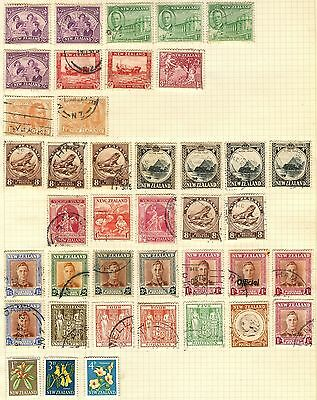 New Zealand Stamp Collection Inc 3s x 2 & 4s x 2 On Loose Album Page (Ref: C113)