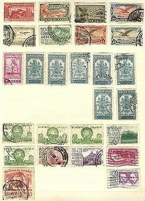 Mexico Stamp Collection On Loose Album Page (Ref: C99)