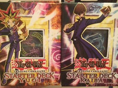 DISCONTINUED Yugi + Kaiba Starter Deck Factory Sealed! Yugioh LIMITED TIME OFFER