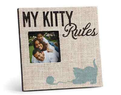 My Kitty Rules Frame, Stephen Fowler, Demdaco, Holds 6.0 x 4.0 photos