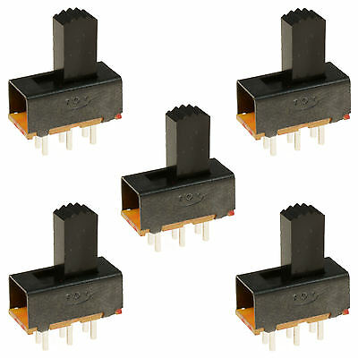 5 x On/On 6 Pin PCB Slide Switch DPDT