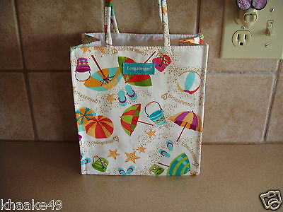LONGABERGER SPRING BREAK LUNCH TOTE * BEACH THEME * NEW