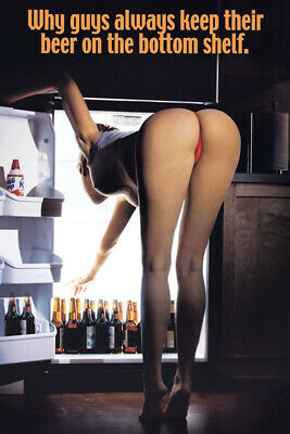Beer Babe Bending Over  Funny  Refrigerator / Tool Box Magnet Man Cave