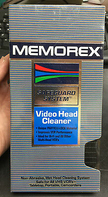 Memorex VHS Video Tape Wet VCR Head Cleaner Cleaning Brand New & Factory Sealed!