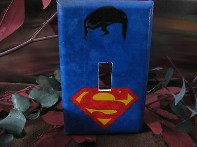 Superman Minimalist Super Hero Light Switch Wall Plate Cover #1 - Outlet Double