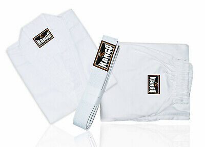 Kango Fitness Karate Gi 7 oz Weight Uniform with White Belt KJJ-005