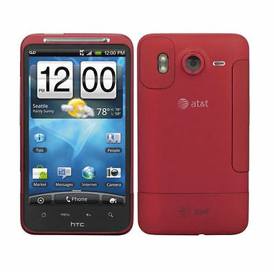 """Red AT&T HTC Inspire 4G Unlocked GSM Android Wifi Touch 4.3"""" SmartPhone 8MP GPS"""