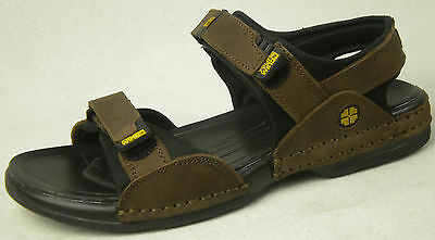 YWing Men's Brown Leather Sandals LS150---Special