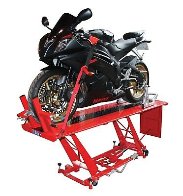 Heavy Duty Hydraulic Motorcycle Mechanics Garage Workshop Table Lift Ce Approved