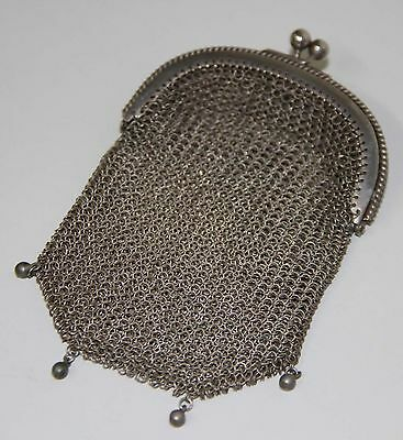Art Deco Coin Purse. Mesh Of Silver 800. Spain. Early 1900