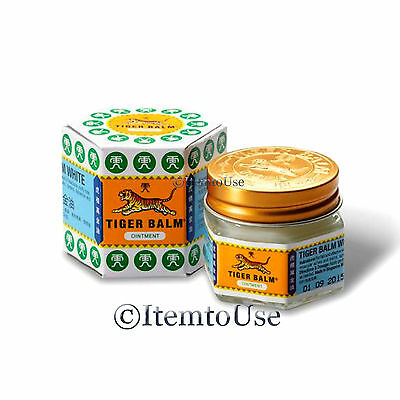 1 Pcs 10g TIGER BALM WHITE Herbal Rub Massage Oil Pain Relief Muscle Ache Blam