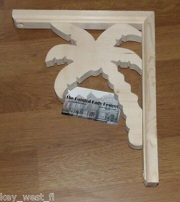 "Small Palm Tree Victorian Wood Gingerbread Bracket #34 ~ {9"" x 11""} ~ by PLD"