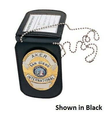 New Authentic Aker 597 Neck Badge And Id Holder Reversible Undercover A597-TP