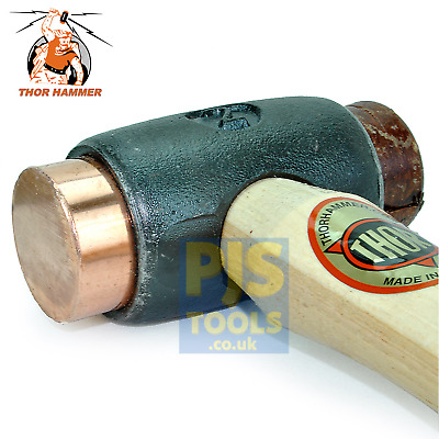 Thor 212 No 2 copper rawhide hammer mallet 38mm face 1070g