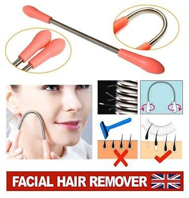 2 x Facial Hair Threading Epilator Spring Hairs Remover Removal Stick New
