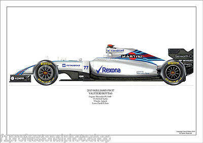 2015  Valterie Bottas Williams FW07  ltd ed. 1 of 250 signed/numbered by artist