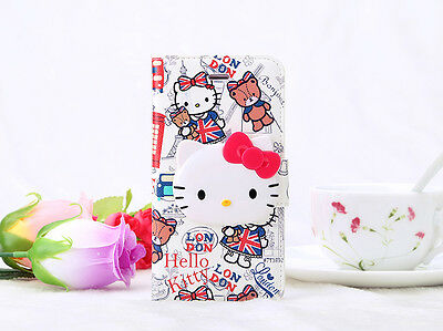 """Fashion Colorful Cartoon Hello Kitty Wallet Case Cover For 5.5"""" Iphone Plus"""