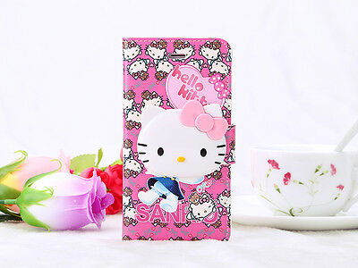Fashion Colorful Cartoon Hello Kitty Wallet Case Cover For Samsung Galaxy Note4