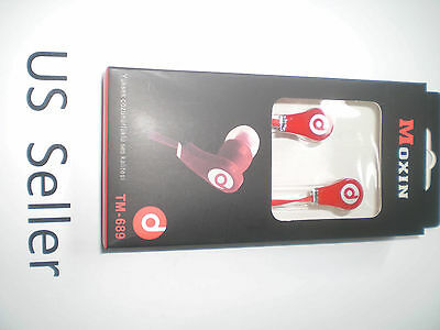 RED Hot 3.5mm In-ear earphone Headphone Earbuds for iphone ipod ipad MP3/4 PC