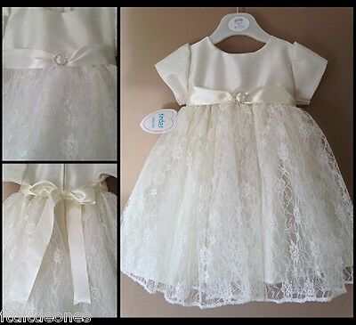 Baby Girls Christening Dress,white Or Ivory,diamante,flower Girl,wedding,baptism