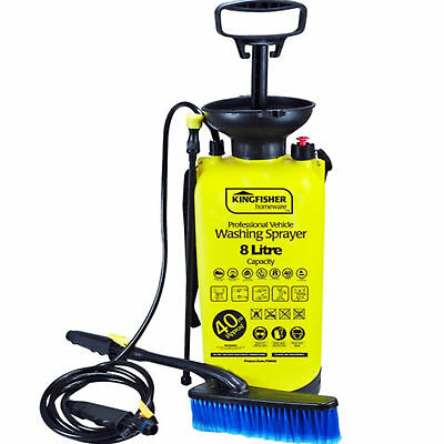 Manual vehicle pressure washer sprayer 8L 40psi Kingfisher, compact practical