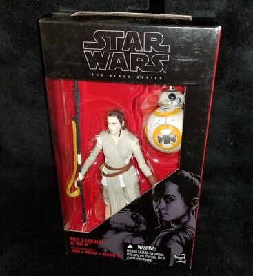 "Star Wars Black Series REY (JAKKU) The Force Awakens 6"" Figure w/ BB-8 Droid"