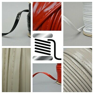 1m WET LOOK Faux Leather Piping Insertion Flanged Upholstery Sewing Cord SML