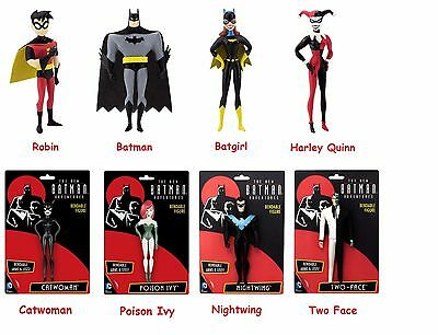 Batman Animated Bendable Poseable Figure Poison  Harley Nightwing Two Face