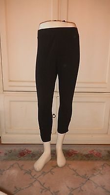 Brand New Ladies' Style & Co Black Capri Stretch Leggings With Studs on Ankle