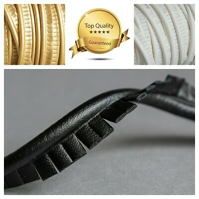 1m JUMBO Faux Leather Piping Cut Edge  Insertion Flanged Upholstery Cord Sewing