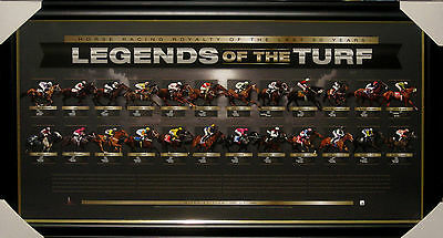 Legends Of The Turf - Framed Official Limited Edition Black Caviar Makybe Diva