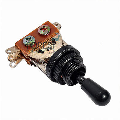 3 Way Toggle Switch GIBSON LP style-Black